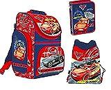 Disney CARS AUTO 3 Teile SCHULRANZEN RANZEN SCHULRUCKSACK TASCHE Tornister SET + Sticker von kids4shop