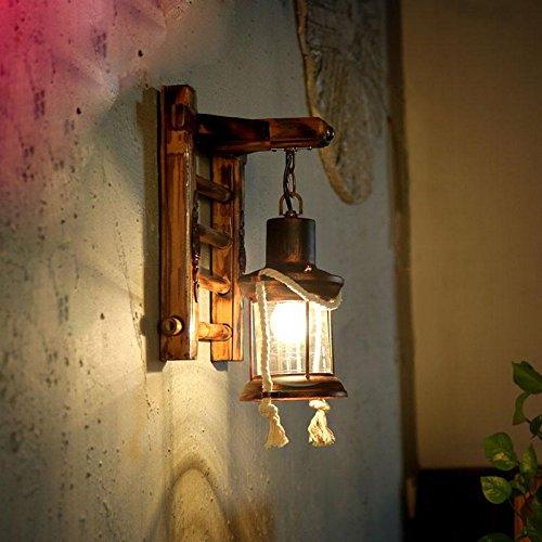 ZQ Retro Nostalgia Lámpara de pared corredor porche lámpara de quero
