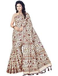Rani Saahiba Art Silk Warli Printed Saree ( SKR3785_Beige )