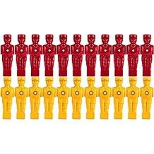 TUNIRO® 22x Profi Tischfußball Figuren, AUSBALANCIERT, SOCCERFUSS, Varianten (VOLLSTANGEN bzw. HOHLSTANGEN / TELESKOPSTANGEN) für 5/8 Zoll bzw. 15,9 mm Stangen, inkl. Schraubensatz, Kicker