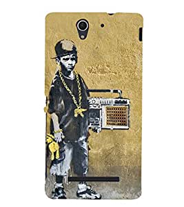 PrintVisa Funky Boy 3D Hard Polycarbonate Designer Back Case Cover for Sony Xperia C3 Dual :: Sony Xperia C3 Dual D2502