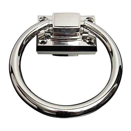 Hardware Türklopfer Edelstahl Ziehgriff Zugringe glänzend silber für Haustür