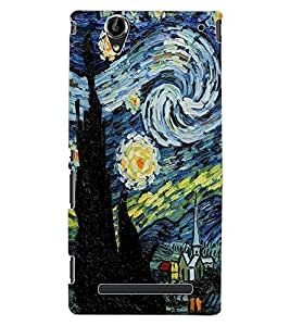 ColourCraft Abstract Art Design Back Case Cover for SONY XPERIA T2 ULTRA