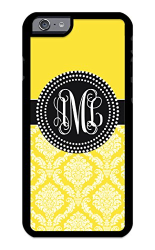 izercase Custom Monogramm Personalisierte iPhone 6, iPhone 6S Schutzhülle Colorful Muster Damast (Handy-fall T-mobile Für)