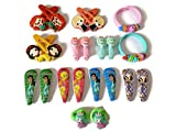 #5: Little Tic tac clips color,rubber bands,bracelets (combo set of 22 pcs)