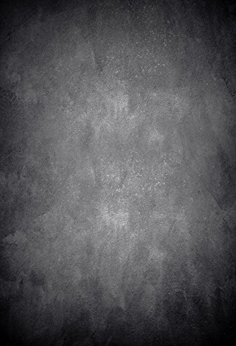 m Baumwolle Polyester schwarz Beton Wand Fotografie Hintergrund waschbar Neugeborene Foto Studios Baby Requisiten Hochzeit Hintergrund Drop kp-346 ()
