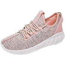 Zapatillas de Deportivo Mujer Calzado Deportivo Mosca Tejida Transpirable para Mujeres Casual Zapatos Ligeros Estudiante Zapatillas