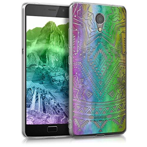 kwmobile Lenovo P2 Hülle - Handyhülle für Lenovo P2 - Handy Case in Mehrfarbig Pink Transparent