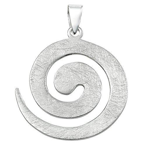 Vinani Anhänger Design Spirale groß gebürstet Sterling Silber 925 2ASP-EZ