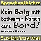 Kein Balg mit bescheuertem Namen an Bord Auto Aufkleber JDM Sticker - SPR_002 (054 türkis)