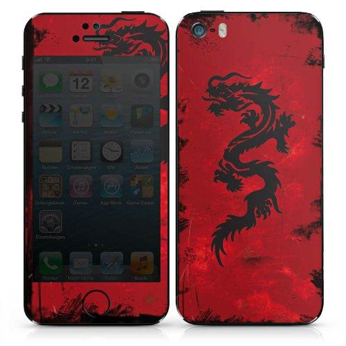 Apple iPhone 3Gs Case Skin Sticker aus Vinyl-Folie Aufkleber Drache Tribal Tattoo DesignSkins® glänzend