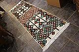 Elessar 65 x 200 cm incl. Fransen, Kelim, Teppich aus dem Orient, Läufer, orientalische Zimmer-Dekoration, Geschenk zum Geburtstag, Wohnung RS 1-3-20