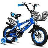 PAI PAI BABY Kind Fahrrad, Mit Cup Fahrrad Jungen Prinzessin Fahrrad Multifunktions Kreativität Fahrrad Länge 88-121 cm (Farbe : Blau, größe : 100CM)