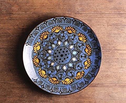 SDKIR-Western-style food steak _ ceramic creative personality plate plate plate Western-style food pasta dish dish home,The Blue