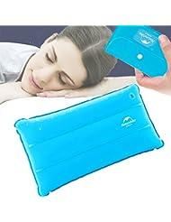 JTENG Oreiller gonflable flocage Super épais tissu oreiller de voyage Portable pour activités de camping et randonnée