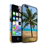 Stuff4 Clipser Matte Coque de Coque pour Apple iPhone 4/4S / Palmier Design/Thaïlande Paysage Collection