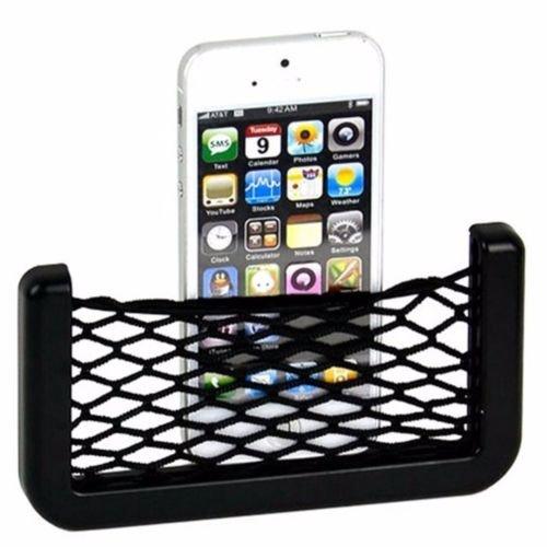 MStick Car accessories || Mobile phone car holder || Universal Car Net Holder Phone Holder Pocket Organizer String Bag (Black)