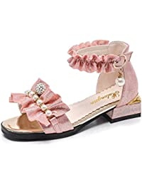 Girls Sommer Sandalen Bowknot Offene Zehe Little Heel Princess Dress Shoes (Kleinkind/Little Kid/Big Kid) b8JHl2829