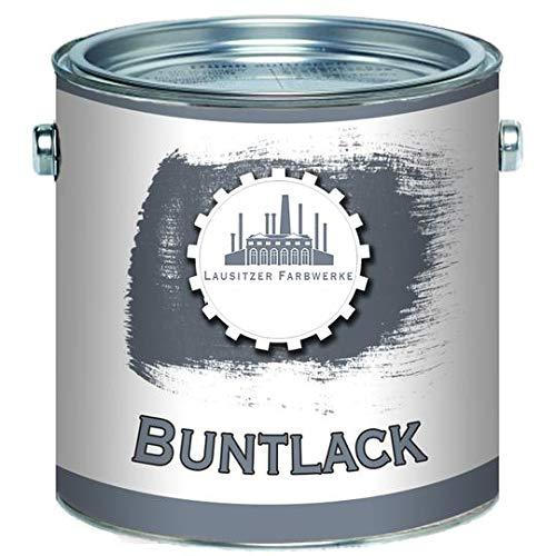 Metall und Holz lack Buntlack MATT 2in1 Graualuminium RAL 9007 Aluminium Grundierung+Lack für Innen & Außen Decklack - besonders robust & schnelltrocknend - Lausitzer Farbwerke (1 L)