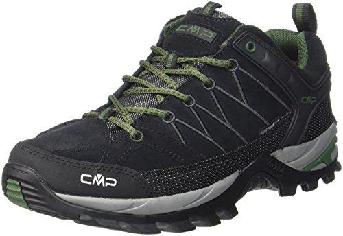 CMP Herren Rigel Low Trekking- & Wanderhalbschuhe, Schwarz (Black-Loden 87bd), 40 EU