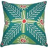 ZXKEE cojines Cover Algodón Lino Grande Verde Flor decorativos Sofá funda cojin Plaza 45 x 45 cm
