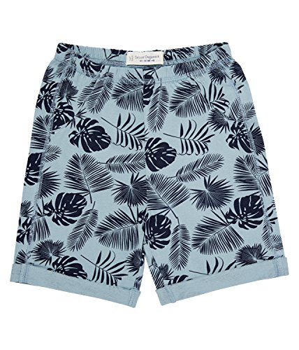 Sense Organics Baby - Jungen Short FABO AOP, All over print, Gr. 56 (Herstellergröße: 0M), Mehrfarbig (soft green + big palm leaves A 582001) (Kurze Print Palm)