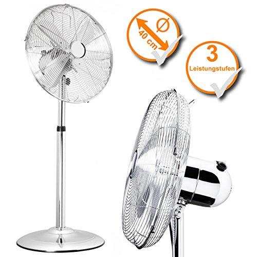 Luxus Elegance Stand-Ventilator Metall 95cm bis 120cm Höhe Durchmesser 40cm Kühler Raum-Lüfter Luft-Erfrischer Lüftung Klima-Gerät Venti Klima-Gerät