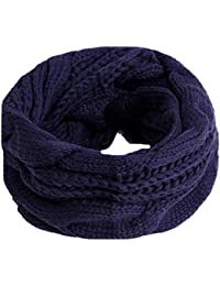 HENGSONG Unisex Circle Loop Scarf Winter Soft Infinity Knitted Cowl Neck Scarf Xmas Gift