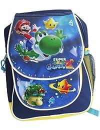 Nintendo Super Mario Bros Galaxy 2 Mochilla Bolso Pre Escolar