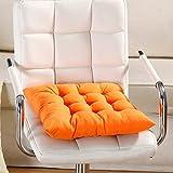 Quadratische Sitzkissen, massiv mit Kordel für Terrasse, Zuhause, Auto, Sofa, Büro, Tatami-Dekoration, die Ornament Sitzpolster für Stuhl 40cm by 40cm Orange