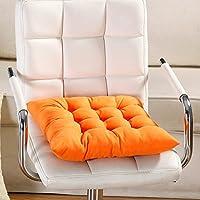 FAVOLOOK Cojín cuadrado sólido para asiento de silla con cordón para sofá de coche, oficina, tatami, decoración, 9 colores, Naranja, Tamaño libre