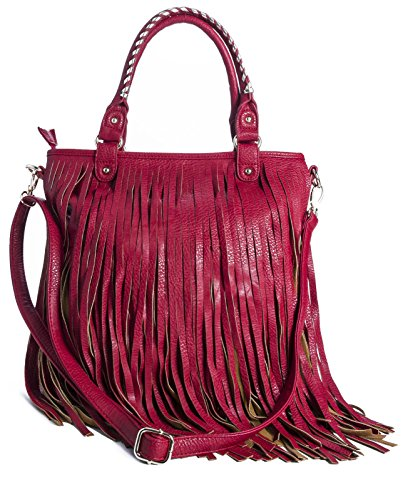 Big Handbag Shop, Borsa a spalla donna One Red