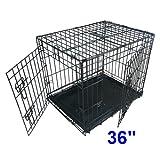 Ellie-Bo Dog Puppy Cage Folding 2 Door Crate...