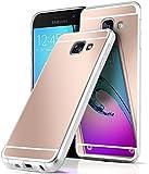 Spiegel Samsung Galaxy A3 (2016) | Hülle Rose-Gold Silikon [OneFlow Mirror Back-Cover] TPU Schutzhülle Dünn Handy-Hülle für Samsung Galaxy A3 2016 Case Ultra-Slim Silikonhülle Rückseite