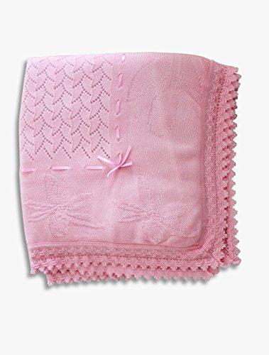 Babydecke Strick Strickdecke rosa Mädchen