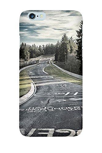 artboxONE Handyhülle iPhone 5/5S Fahrbahn in Kreide - Automobile Motorsport - Smartphone Case mit Kunstdruck hochwertiges Handycover kreatives Design Cover aus hartem Kunststoff von Olaf Pohling Premium Case