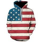 40%-60% Off!Ieason Mens Printed Pullover 3D Stripe Long Sleeve Hooded Sweatshirt Tops Blouse