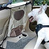 LOHUA Hunde Rücksitz Barriere Pet Sicherheit Netz Barrier, Auto-Haustier Sicherheitsnetz Fahrzeug Hunde Gepäcknetz Rücksitz Hund Schutznetz für sicher und angenehm Reise , Beige
