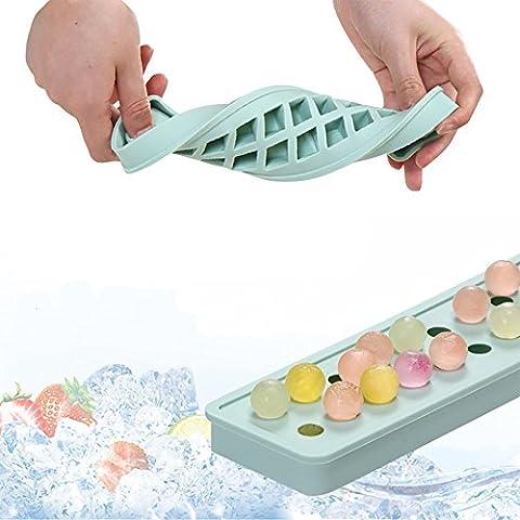 bola de hielo bandejas de cubitos de hielo molde de silicona Mini 20 cavidades del molde moldes de hielo - DIY para los niños con caramelo de la jalea del pudín molde jugo de leche o de cócteles y partículas de whisky