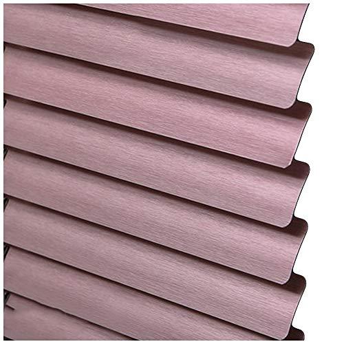 CHENHZ-Veneziana in alluminio,Paralume for La Privacy Finestra Orizzontale Protezione UV for Ufficio Sale Giochi, Dimensioni Personalizzabili (Color : Pink, Size : 65x130cm)