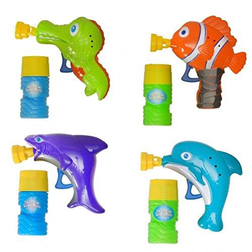 Wassertier Seifenblasenpistole mit 60 ml Seifenlauge - Wasserbewohner Seifenblasen Pistole