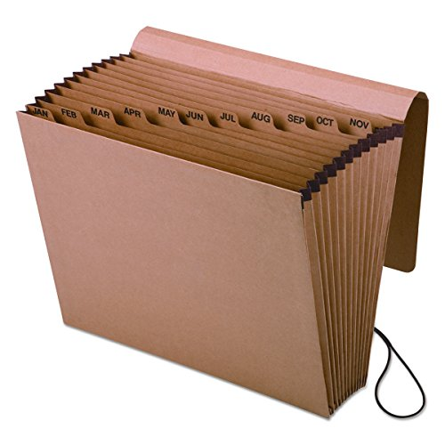 Pendaflex Expansion Kraft Datei mit Klappe, Jan. -dec. Index, 12x 10, 1pro Box (k-17m-ox) - Monatlich Akkordeon-datei