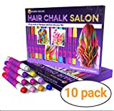 Desire Deluxe Girls Gifts Hair Chalk Gift for Girls – 10 Temporary Non-Toxic