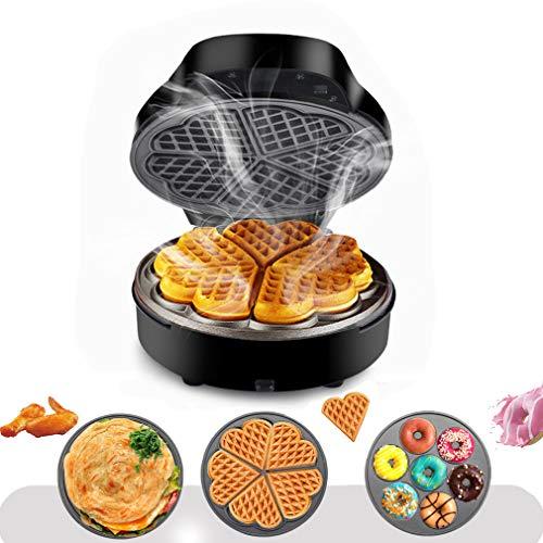 Waffeleisen 3-IN-1 Elektro-Sandwich-Maker mit detachierbaren Non-Stick-Waffeln und Grillplatten, Doppelsight-Heizung, Hängedesign, LED-Indikator-Leuchten
