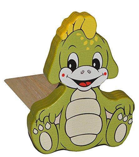 Preisvergleich Produktbild Türstopper / Fensterstopper / Unterlegkeil - aus Holz - Dinosaurier / Krokodil / Drache / Dino - Türkeil / Klemmschutz / Türpuffer / Holztürstopper - Kinderzi..
