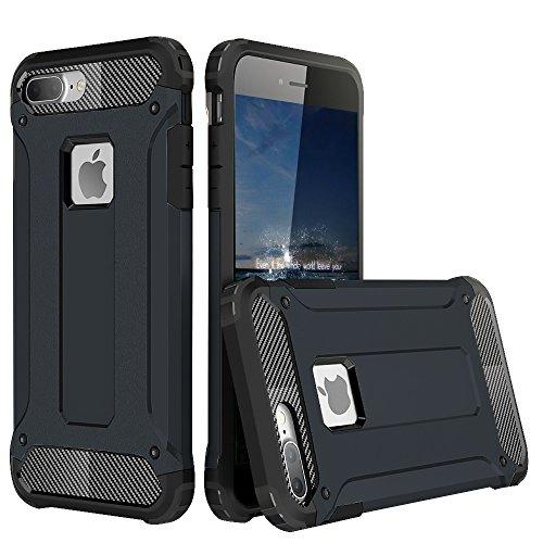 FOGEEK Schutzhülle iPhone 7 Hülle: Erweiterte Heavy Duty Schutz [Dämpfungstechnologie] Stilvolle Schutzhülle Tasche für iPhone 7 (iPhone 7, Gold) Dunkelblau