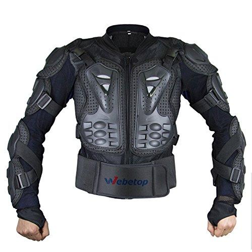 Webtop-Motorrad-Schutzjacke Spine Brustpanzer Off Road Körperpanzer Protektor Motorrad Jacke, L