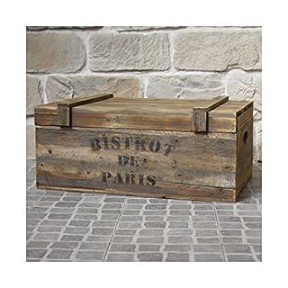 chemin_de_campagne Coffre Malle en Bois Grand Coffre Style Ancien 74 cm x 45 cm x 32.50 cm