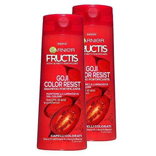 Garnier Fructis Shampoo Capelli Colorati Color Resist con Bacche di Acai, senza Parabeni - Confezione da 2 Unità
