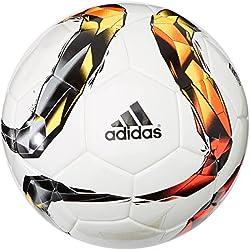 Balón de fútbol Adidas Torfabrik 2015 competition, todo el año, color Blanco - Blanco/naranja, tamaño 5